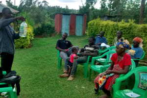 The Water Project: Elukani Community, Ongari Spring -  Solar Disinfection