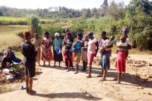 The Water Project: Musango Community, Ham Mwenje Spring -  Training