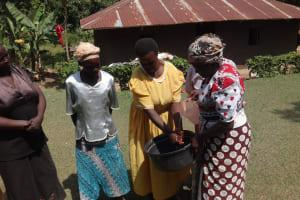 The Water Project: Shitungu Community, Omar Rashid Spring -  Hand Washing Training