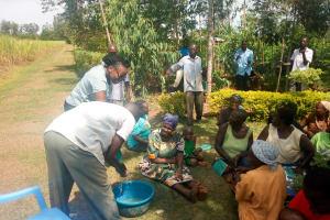 The Water Project: Esembe Community, Chera Spring -  Handwashing Training