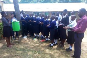 The Water Project: Shanjero Secondary School -  Handwashing Training