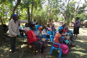 The Water Project: Bukhunyilu Community, Solomon Wangula Spring -  Training