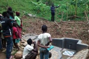 The Water Project: Ivulugulu Community, Ishangwela Spring -  Onsite Training