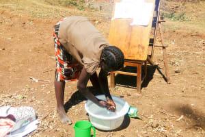 The Water Project: Sharambatsa Community, Mihako Spring -  Handwashing Training