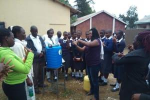 The Water Project: Malimili Secondary School -  Hand Washing Training