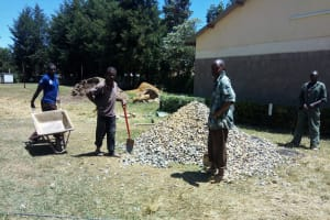 The Water Project: Shanjero Secondary School -  Construction Materials