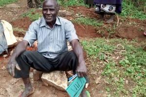 The Water Project: Lwenya Community, Warosi Spring -  Samwel Saina