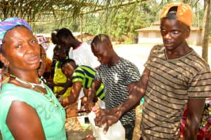The Water Project: Sanya Community -  Building Handwashing Stations