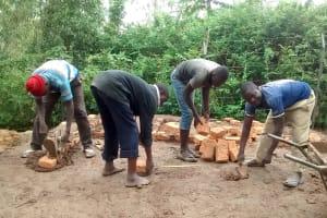 The Water Project: Lihanda Secondary School -  Latrine Construction