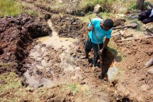 The Water Project: Shibuli Community, Khamala Spring -  Excavation