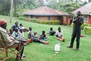 The Water Project: Bumavi Community, Esther Spring -  Handwashing Training