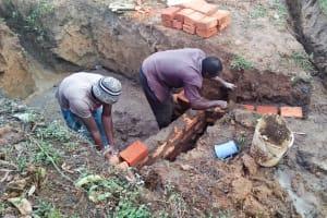 The Water Project: Ataku Community, Ataku Spring -  Spring Construction