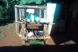 The Water Project: Shirakala Community, Ambani Spring -  Kenya A Sample Dishrack