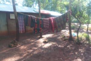 The Water Project: Shirakala Community, Ambani Spring -  Kenya Clothes Hang To Dry On The Line