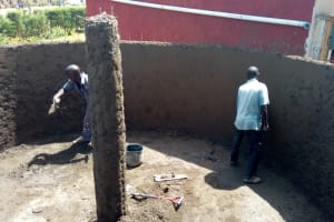 The Water Project: George Khaniri Kaptisi Mixed Secondary School -  Constructing Tank Walls