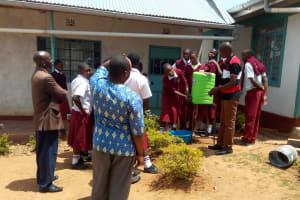 The Water Project: George Khaniri Kaptisi Mixed Secondary School -  Handwashing Demonstrations