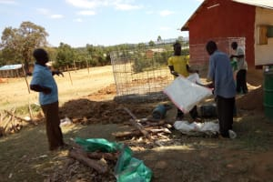 The Water Project: George Khaniri Kaptisi Mixed Secondary School -  Iron Mesh Frame For The Tank Walls