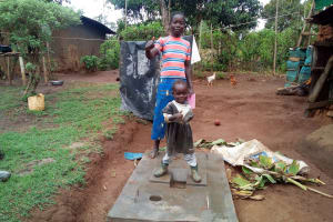 The Water Project: Musango Community, M'muse Spring -  Excited About New Latrine
