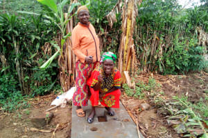 The Water Project: Musango Community, M'muse Spring -  New Latrine Platform Is Done