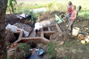 The Water Project: Musango Community, M'muse Spring -  Spring Protection