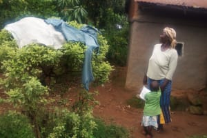 The Water Project: Emulakha Community, Alukoye Spring -  Clothes Dry On Bush