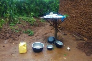 The Water Project: Emulakha Community, Alukoye Spring -  Improvised Dishrack