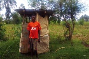 The Water Project: Emulakha Community, Alukoye Spring -  Improvized Latrine