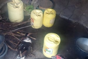 The Water Project: Nambatsa Community, Odera Spring -  Water Containers In A Kitchen