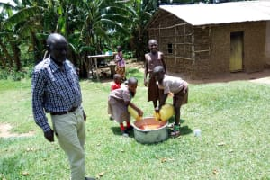 The Water Project: Handidi Community, Chisembe Spring -  At Mr Ombithis Compound
