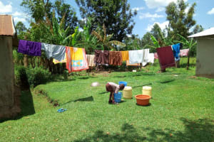 The Water Project: Handidi Community, Chisembe Spring -  Clothes Drying On The Clothes Line