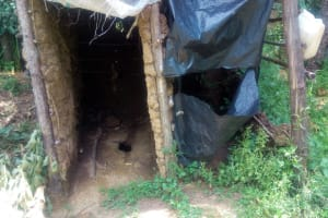The Water Project: Handidi Community, Chisembe Spring -  Latrine Without A Door