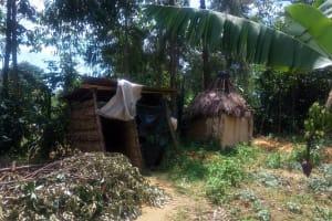 The Water Project: Handidi Community, Chisembe Spring -  Latrines