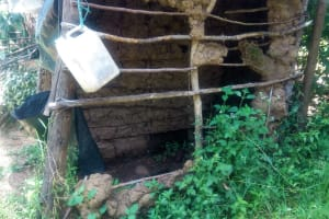 The Water Project: Handidi Community, Chisembe Spring -  Poor State Of Latrines In This Community