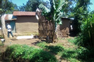 The Water Project:  Bathroom Made From Dry Maize Stalks