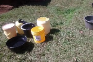 The Water Project: Musiachi Community, Thomas Spring -  Jerrycans Filled With Water