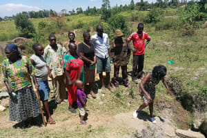 The Water Project: Futsi Fuvili Community, Simeon Shimaka Spring -  Learning About The Spring Protection