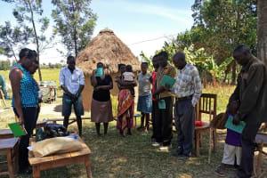 The Water Project: Futsi Fuvili Community, Simeon Shimaka Spring -  Training