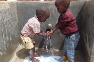 The Water Project: Elukuto Community, Isa Spring -  Clean Water