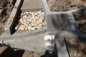 The Water Project: Elukuto Community, Isa Spring -  Spring Protection Nearly Completed