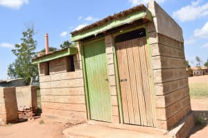 The Water Project: Wee Primary School -  Boys Latrines