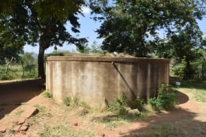 The Water Project: Wee Primary School -  Decomissioned Concrete Water Tank