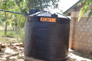 The Water Project: Wee Primary School -  Smaller Plastic Rainwater Tank