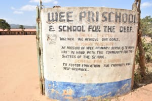 The Water Project: Wee Primary School -  Wee Primary School Sign