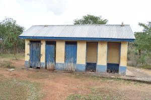 The Water Project: Kyamatula Primary School -  Boys Latrines