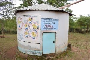 The Water Project: Kyamatula Primary School -  Concrete Rainwater Tank