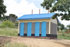 The Water Project: Kithoni Secondary School -  Girls Latrines