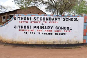 The Water Project: Kithoni Secondary School -  School Sign