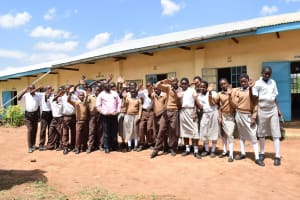 The Water Project: Kithoni Secondary School -  Students Pose Outside