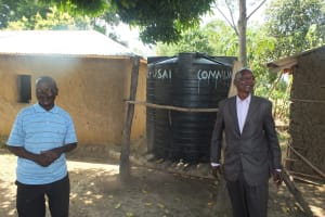 The Water Project: Vilongo Community -  Vilongo Community Rain Water Tank