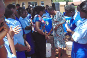 The Water Project: St. Mary's Girl's High School -  Handwashing Station Demonstration